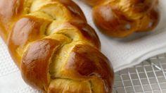 """""""Tsoureki"""" (Greek Easter Bread) Recipe on Greek Easter Bread, Easter Bread Recipe, Easter Recipes, Easter Food, Greek Sweets, Greek Desserts, Greek Recipes, Challah Bread Recipes, Greek Pastries"""