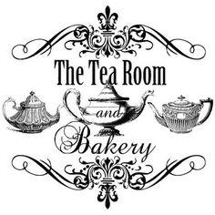 Schild für Teeraum