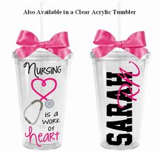 Nursing is a Work of Heart Theme Skinny by HeartfeltPersonals
