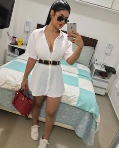 Looks casuais em 2019 short dresses, shirt dress Cute Casual Outfits, Stylish Outfits, Fall Outfits, Summer Outfits, Outfits Primavera, Look Fashion, Fashion Outfits, Womens Fashion, Fashion Trends