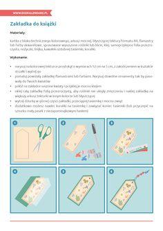Zakładka do książki - instrukcja Map, Handmade, Hand Made, Location Map, Maps, Handarbeit
