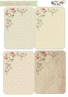 Vintage Mini Background / Mini Papers