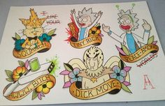 (Repost due to a better pic and I messed up last time) Just finished this Rick and morty themed flas - throwin_anchors