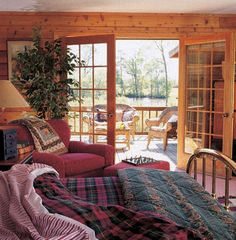 Interior Photo Gallery - The Original Log Cabin Homes Log Cabin Home Kits, Log Cabin Living, Log Cabin Homes, Home And Living, Log Cabin Bedrooms, Log Cabins, Rustic Bedrooms, Mountain Cabins, Rustic Cabins