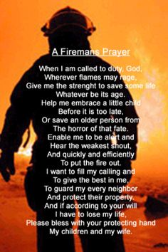 Favorite prayer fire fighters are my heros