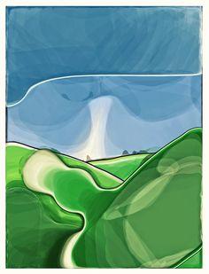 iPad painting - imagined landscape  #iPad art