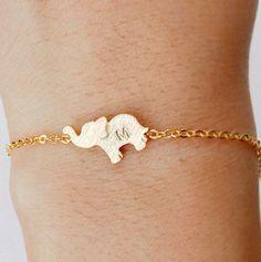 Elefant-Armband personalisierte Armband von ElliesButton auf Etsy