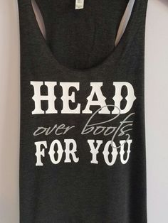 Head Over Boots For You Tank Top with Glitter. Country tank top. Country shirt. Southern tank top. southern shirt by SouthernCharme