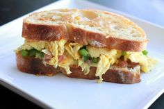 The Denver Sandwich (a Denver omelette sandwiched between 2 pieces of bread--Denver omelettes have eggs, diced onion, diced green pepper, & chopped ham) is claimed to have been invented by numerous people in Denver, Colorado in 1907.