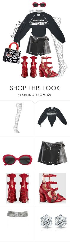 """""""StyledByLeek"""" by stylebywho ❤ liked on Polyvore featuring Falke, Yves Saint Laurent and Gucci"""