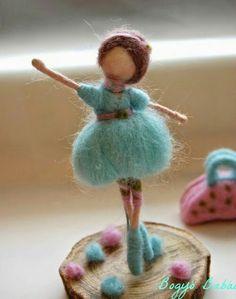 balerina (Needle felted Ballerina) Bogyó Babái - My WordPress Website Doll Crafts, Diy Doll, Needle Felting Tutorials, Felt Fairy, Waldorf Dolls, Fairy Dolls, Wet Felting, Felt Toys, Felt Ornaments