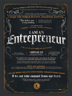 I AM an Entrepreneur Quote Find more great resources for entrepreneurs at TheDrivenNetworker.com