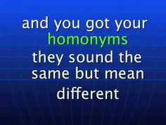 Synonyms, Antonyms & Homonyms Song By Charles H. Johnson www.edusoul.net.flv