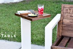 Modern Drink Table Indoor- Outdoor | DIY Build #SimpleLifeHacks #Build, #DIY, #DRINK, #HowTo, #Indoor, #Modern, #Outdoor, #Patio, #Summer, #Table, #Wood