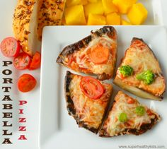 Portabella Pizzas For Kids | Healthy Ideas for Kids  Max phase! Go easy on cheese.