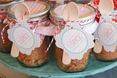 Sugar and Spice Body Scrub Baby Shower Favors