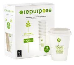 Repurpose @Roxanne Casey compostable cups - reducing plastic Styrofoam waste