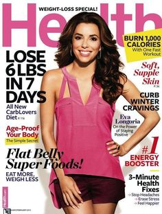 Who made Eva Longoria's pink shirt and red shorts that she wore on the cover of the Health magazine? Shirt – BCBG  Shorts – Rachel Roy