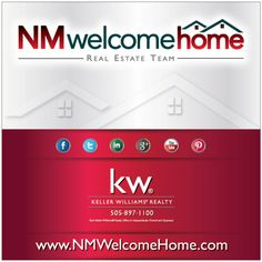 New Mexico Real Estate Sign: NMWelecomeHome Real Estate Team. Visit www.nmwelcomehome.com
