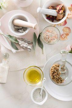 Simone LeBlanc DIY Dried Floral Bath Salts