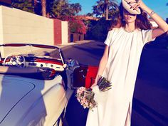 Just Married – Beegee Margenyte plays the role of blushing bride in Hunter & Gatti's sun-drenched images shot for Vogue Spain's Bridal. White Bridal Dresses, White Dress, Wedding Dresses, Vogue Bride, Vogue Spain, Fashion Photography Inspiration, Fashion Pictures, Beautiful Outfits, Editorial Fashion