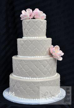 Fondant Wedding Cake | A Little Cake