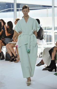 Spring 2016 New York Fashion Week - NYFW Spring 16:  A model walks down the runway during the Delpozo fashion show during Spring 2016 New York Fashion Week at Pier 60 on September 16, 2015 in New York City.