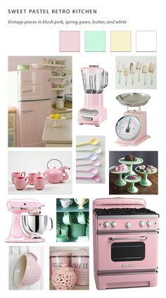Vintage pastel kitchen