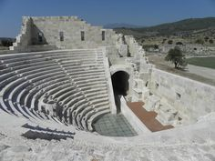 The bouleuterion or Council Chamber of Patara, on the shore of Lycia. One of the many wonders on our archaeological tours in Turkey.