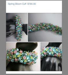Spring Bloom Beaded Cuff