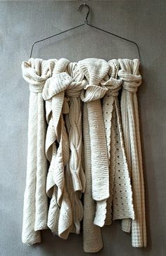 can NEVER have too many cuddly ivory scarves!