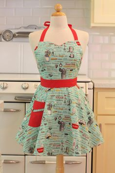 Sweetheart Retro Apron Baking Theme BELLA. $28.75, via Etsy.