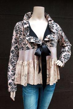 Romantic Jacket, Shabby Chic, Junk Gypsy Style