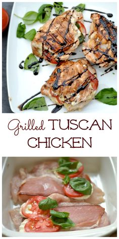 Grilled chicken stuffed with prosciutto, mozzarella, tomatoes, basil, and drizzled with balsamic cream!