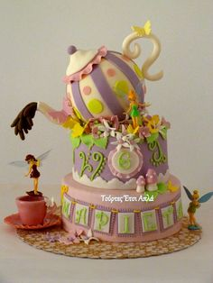 CAKE ART ~ Tinkerbelle cake ~ all hand molded and totally edible