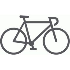 Silhouette Design Store: bicycle - road
