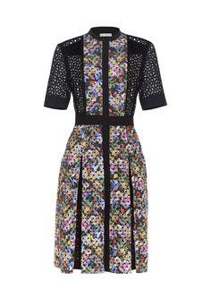 Mary Katrantzou Caule floral-print broderie-anglaise dress