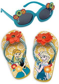 NWT Disney Store Frozen Elsa and Anna Flip flops Platform Shoes 11//12 Girls