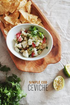 i crave ceviche pretty often around here. as i talk about frequently - i looove mexican food and i love fish so come on. also this is the easiest recipe to do ever because you basically chop some s...