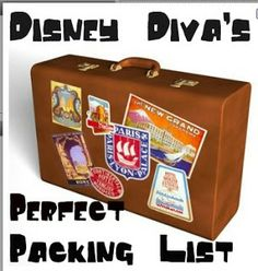 Packing Checklists | Tips from the Disney Divas and Devos This is a good list.