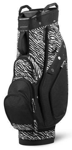 Black/Zebra Sun Mountain Women's Diva Golf Cart Bag available at #lorisgolfshoppe