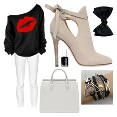 """""""Untitled #25"""" by supemrs on Polyvore featuring French Connection, Jimmy Choo and Essie"""