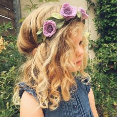 """What a doll in our NEW purple garland flower crown! This gorgeous crown comes in purple and coral and more colors coming! Check it out at Plaingirl.com…"""