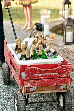 Refreshing Reception Cooler Ideas: wagon