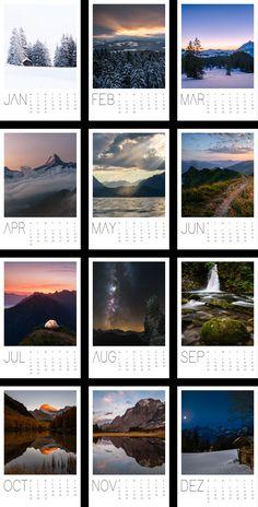 Fin-Art Druck Calendar 2018