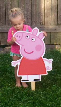 Peppa Pig Character Signs, Party Prop, Cut-outs, kids characters Pig Birthday, 3rd Birthday Parties, Birthday Ideas, Peppa Pig Images, Peppa Pig Pictures, Aniversario Peppa Pig, Cumple Peppa Pig, Pig Character, Party Characters