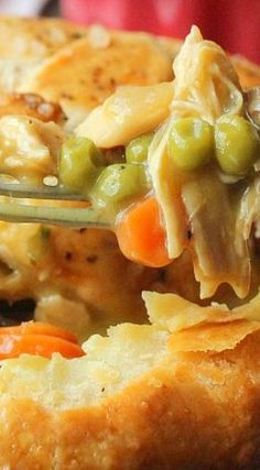 Amazing Chicken Pot Pie ~ You simply will not believe how good this is.   Posted By: DebbieNet.com  