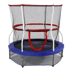 Exterior: Amazing Skywalker Trampolines 60 In. Round Seaside Adventure Bouncer With Enclosure from Kid Trampoline Ideas