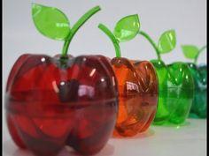 Como fazer uma maçã de garrafa pet com uma pintura colorida transparente,EU QUERO A PRENDER A FAZER,DEVE FICAR LINDISSIMO