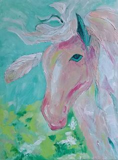 horse acryl 30x40